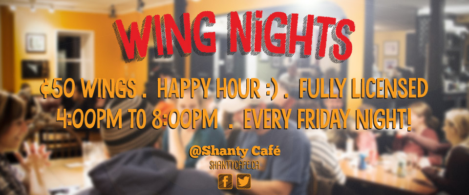 Wing Nights @ Shanty Café